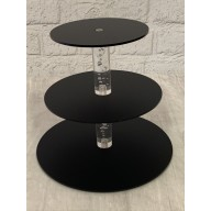 Black Frosted Acrylic cupcake  cake tiered stand  3 tier