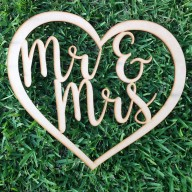 Mr & Mrs inside Love Heart