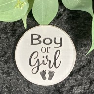 Boy or Girl Cookie Stamp