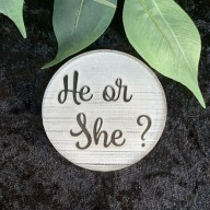 He or She Cookie Stamp