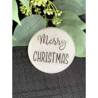 Merry Christmas Cookie Stamp #1