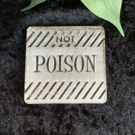 Not Poison Cookie Stamp
