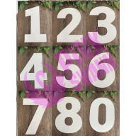 Baking Number Cookie Cake Template.
