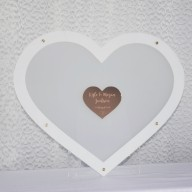 Guest Book Alternative - Coloured Heart Shaped Drop Box