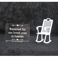 Memorial Loved ones in Heaven & Rocking Chair