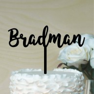Custom Single Name Cake Topper - Font 1