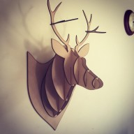3D MDF Stag Head Home Décor Decoration