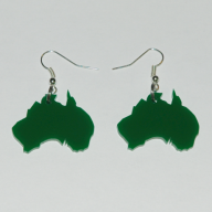 Australian Map Earrings