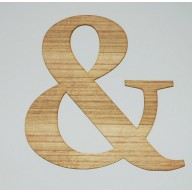 Large Ampersand Sign in Rustic Tasmanian Oak