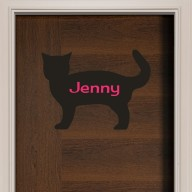 Cat Door Sign