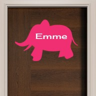 Elephant Door Sign