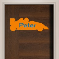 Racing Car Door Sign