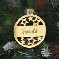 Christmas Bauble - Engraved Mirror